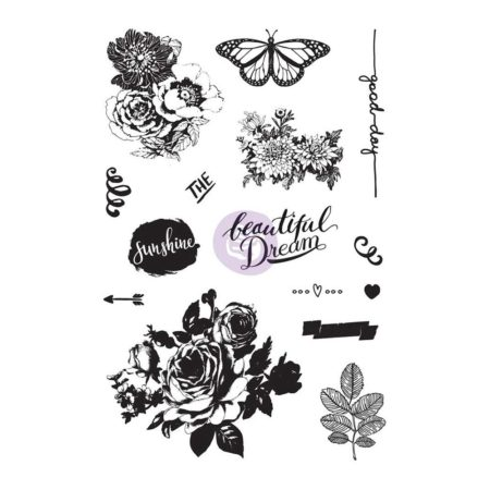 Prima - Zella Teal - Cling Rubber Stamps - 595524