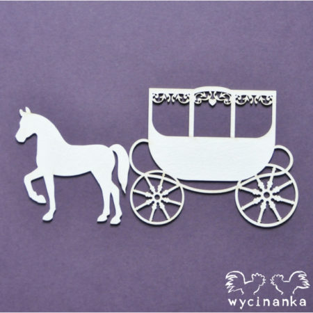 Wycinanka - BEAUTIFUL WEDDING - carriage - 26887