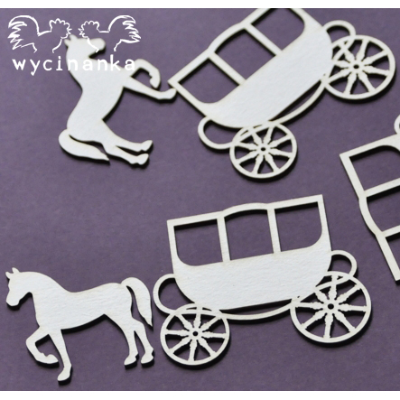 Wycinanka - BEAUTIFUL WEDDING - little carriages - 26986