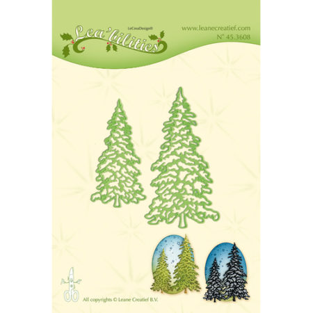 Leane - Die Cut & Embossing - Christmas Trees - 45.3608