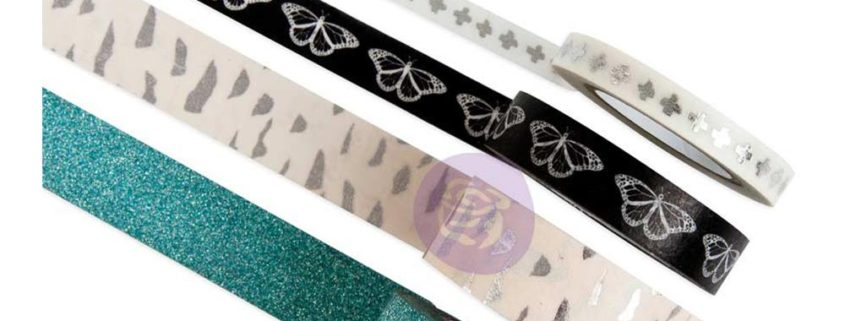 Prima - Zella Teal - Decorative Tape - Printed & Glitter - 595331
