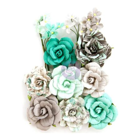 Prima - Zella Teal Flowers - Teal Love - 597146