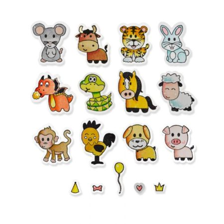 SIZZIX THINLITS DIE & STAMPS - Zodiac Animals - 662615