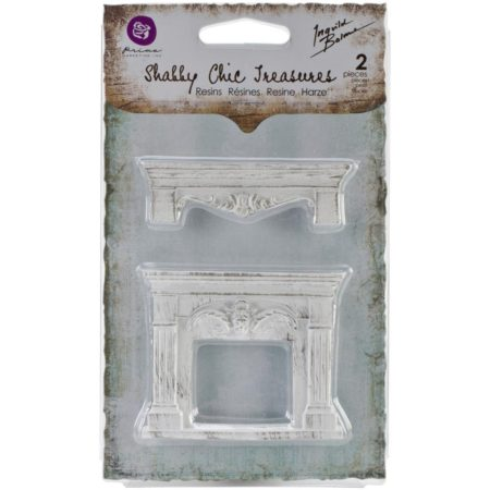 Prima Shabby Chic Treasures Resin Embell - Fireplace & Shelf - 892043