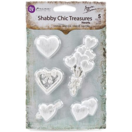 Prima Shabby Chic Treasures Resin Embell - Hearts - 892562