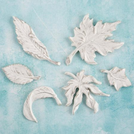 Prima Shabby Chic Treasures Resin Embell - Leaves - 892579