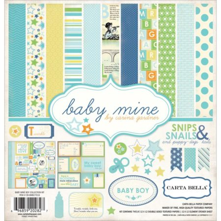 Carta Bella Collection Kit - Baby Mine/Boy - CB-BMB27016