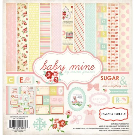 Carta Bella Collection Kit - Baby Mine/Girl - CB-BMG26016