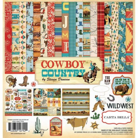Carta Bella Collection Kit - Cowboy Country - CBCC77016