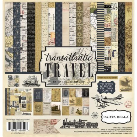 Carta Bella Collection Kit - Transatlantic Travel - CBTR68016