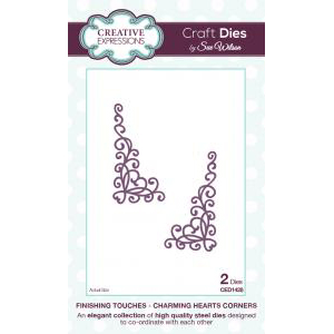 Creative Expressions - Hearts Corners - CED1428