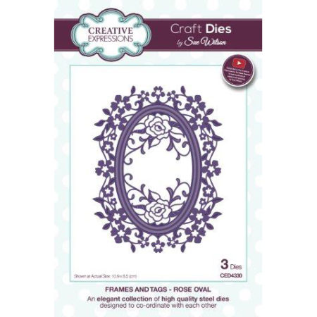 Creative Expressions - Frames and tags - Rose Oval - CED4300