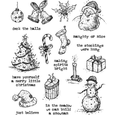 Tim Holtz - Cling Stamps - Tattered Christmas - CMS318