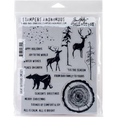 Tim Holtz -Cling Stamps - Great Outdoors - CMS321