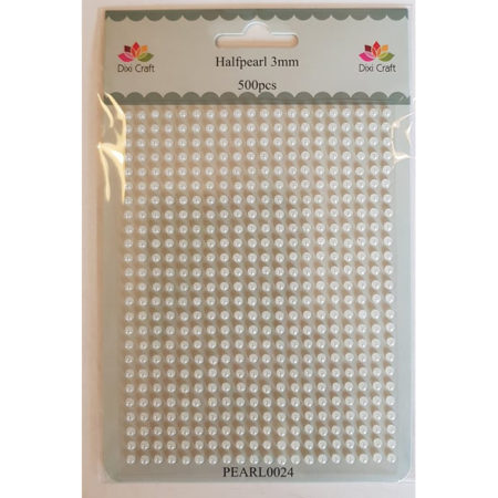 Dixi Craft - Halvperler 3 mm - Lys Creme - PEARL0024