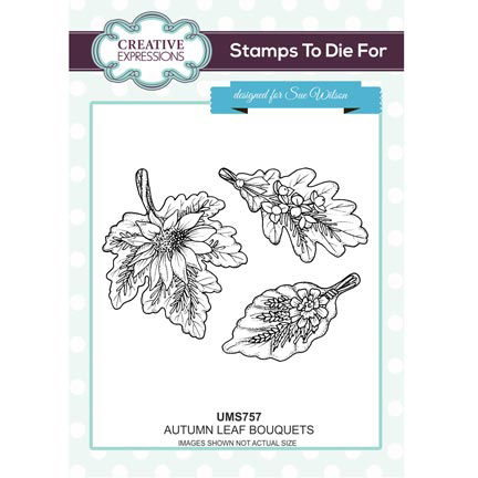 CREATIVE EXPRESSIONS SUE WILSON STAMP - Autumn Leaf - UMS757