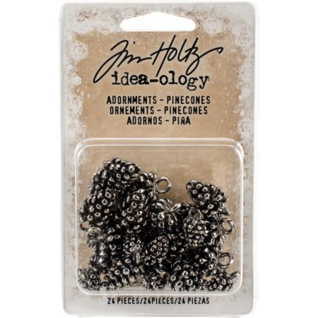 Idea-Ology - Tim Holtz - Antique Nickel Pinecones - TH93633