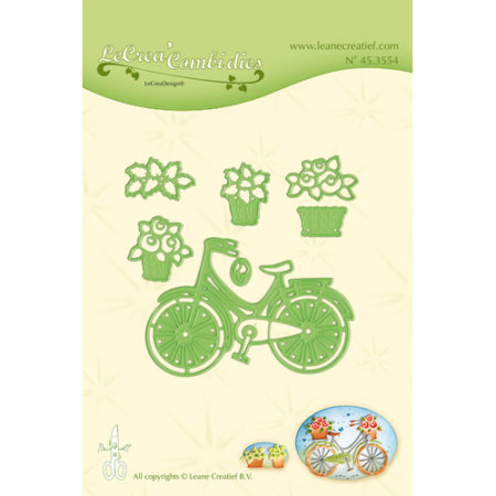 Leane - Die Cut & Embossing - Bicycle with basket - 45.3554