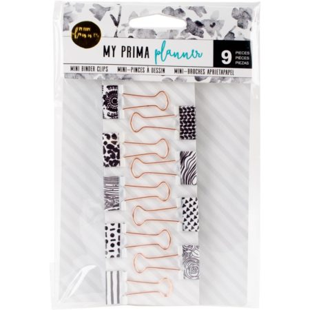 Prima - My Prima Planner Metal Binder Clips - Withe & Gold
