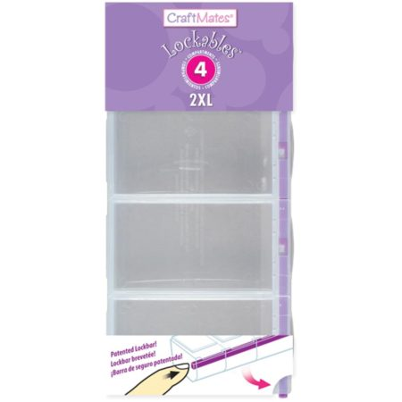 Craft Mates Lockables 2XL Organizer 4 Compartments