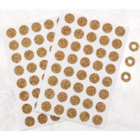 My Prima Planner Hole Reinforcer Stickers - Champagne Glitter