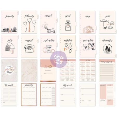 My Prima A5 Planner Inserts - Frank Garcia Mademoiselle Chic