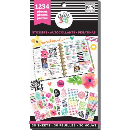 Happy Planner Create 365 Sticker Value Pack Planner Today Is The Day
