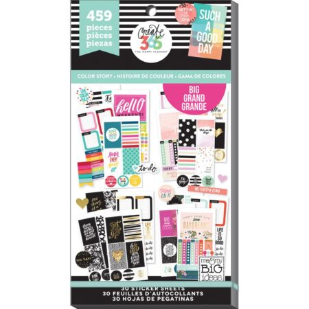 Happy Planner Create 365 Sticker Value - Today Color Story