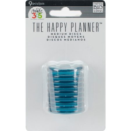 Create 365 Happy Planner Discs - Clear Teal 1.25""