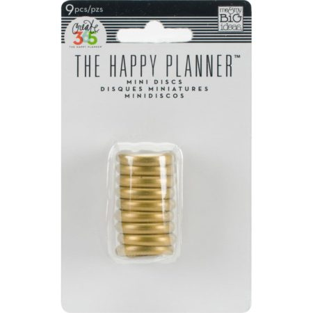 Create 365 Happy Planner Discs - Gold .75""