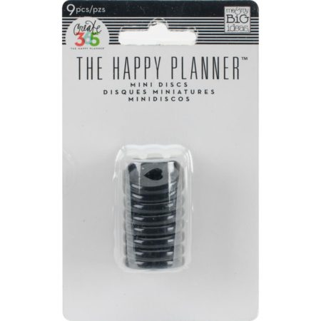 Create 365 Happy Planner Discs - Black .75""