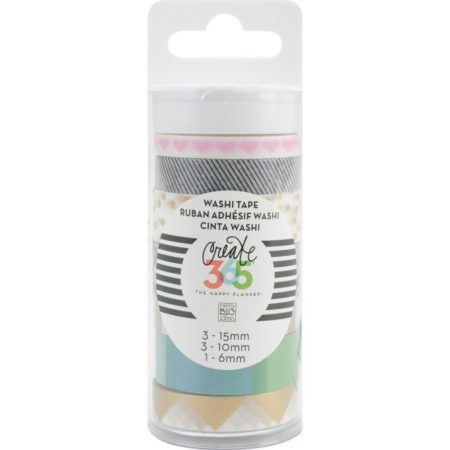 Create 365 The Happy Planner Washi Tape - Black & White