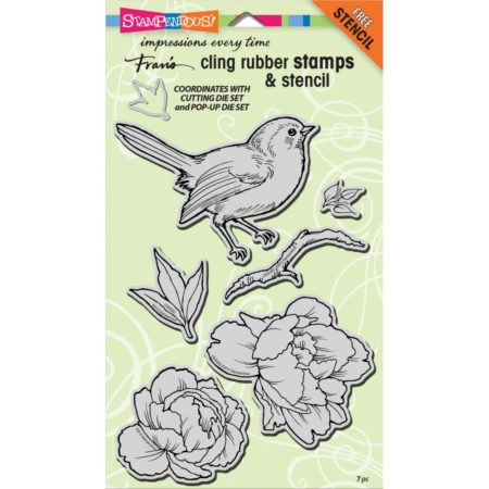 Stampendous - Cling Stamp - Cling Bird Blossom - CRS5083