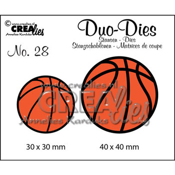 Crealies Crea Duo Dies 28 basketbolde - 2349