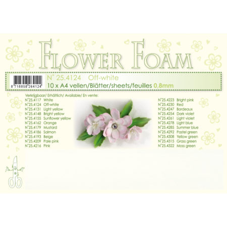 Leane Flower Foam A4 - Off White - 25.4124