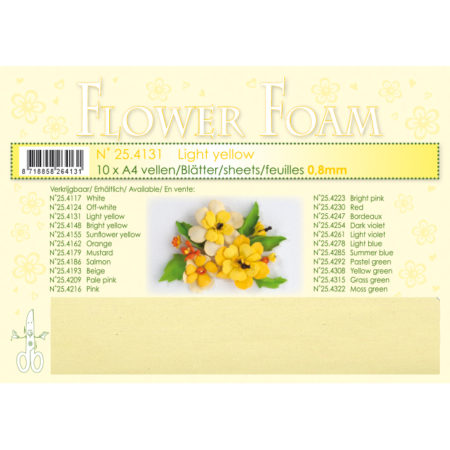 Leane Flower Foam A4 - Light yellow - 25.4131
