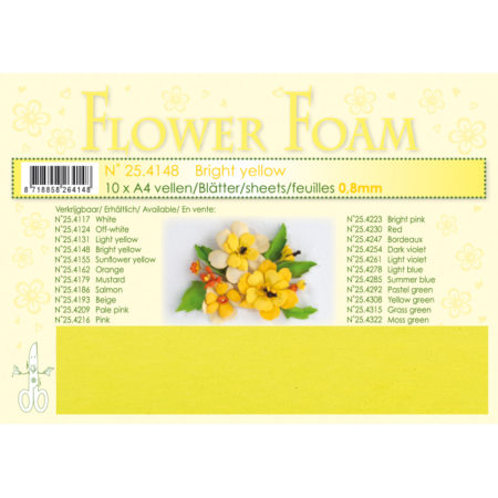 Leane Flower Foam A4 - Bright Yellow - 25.4148