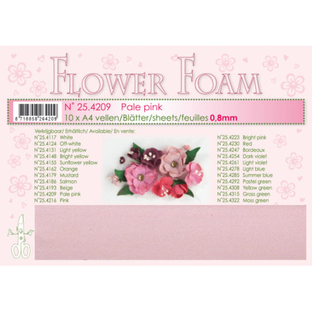 Leane Flower Foam A4 - Pale Pink - 25.4209