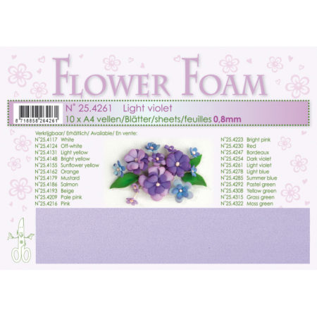 Leane Flower Foam A4 - Light Violet - 25.4261