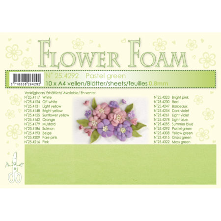 Leane Flower Foam A4 - Pastel Green - 25.4292