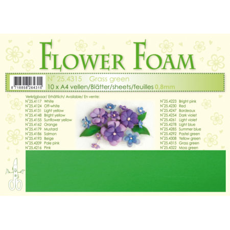 Leane Flower Foam A4 - Grass Green - 25.4315