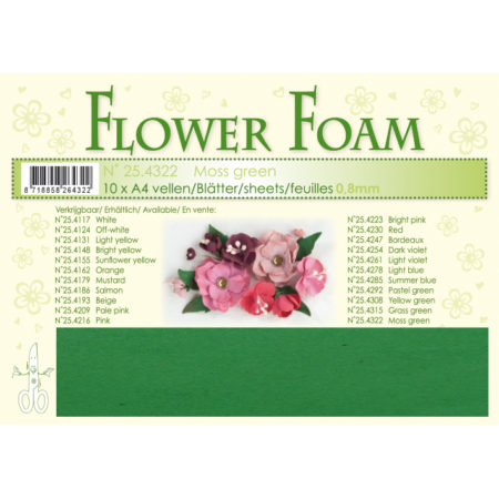 Leane Flower Foam A4 - Mos Green - 25.4322
