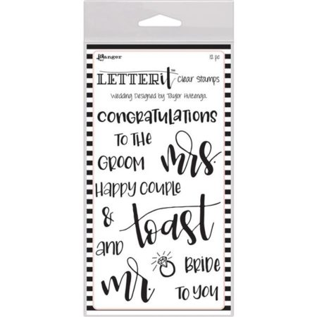 Rangers Letterit –  Clear Stamps - Wedding - LEC59332