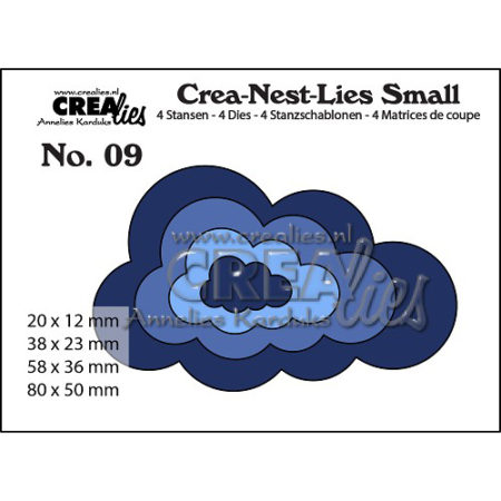 Crealies Crea Crea-Nest-Lies Small 9 - 2314