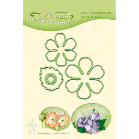 Leane - Die Cut & Embossing - Easy Flower 002 - 45.4568