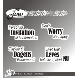 By Lene Stamps - Dansk tekst - Personlig invitation... - BLS1020
