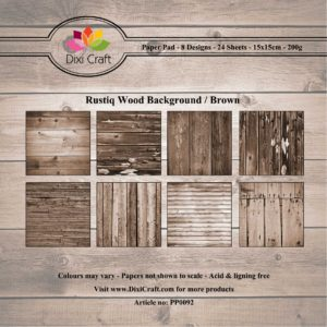 DIXI CRAFT PAPIRSBLOK - Rustiq Wood – Brown - PP0092