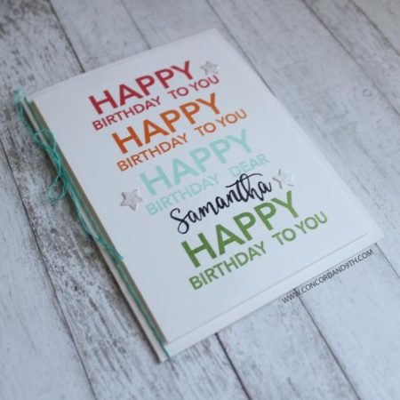 Concord & 9th - Happy Words Stamp Set - 10129