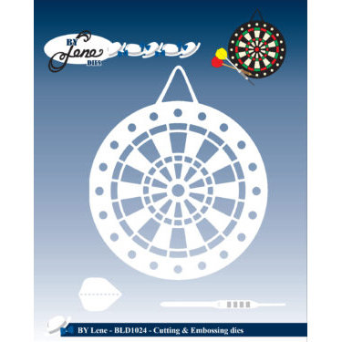 By Lene Dies - Dartboard & Arrows - BLD1024