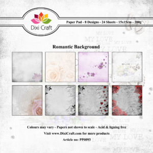 DIXI CRAFT PAPIRSBLOK - Romantic - PP0093